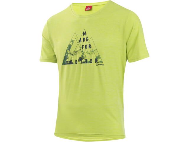 Löffler Softtouch CF Printshirt Herren light green